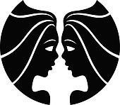 Black zodiacs gemini