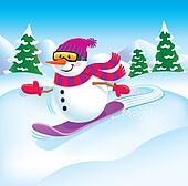 Snowman Snowboarder