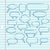 Chat Bubbles on Notebook Paper
