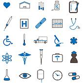 Image of various medical icons.