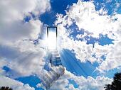 Stair to heaven vivid shiny sky