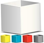 Blank 3d boxes, vector illustration
