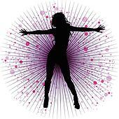 Modern Dancing Clip Art - Royalty Free - GoGraph
