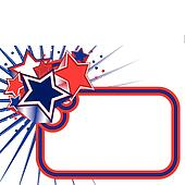 Red white blue stars banner