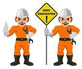 Construction worker superman