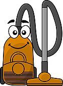 Cute cartoon vacuum cleaner