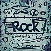 Doodle rock music icons background