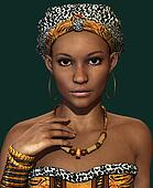African Lady CA, 3d CG