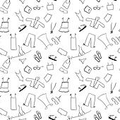 Shopping, clothes seamless background