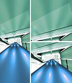 Futuristic stairway 3D render