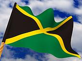 Flag. Jamaica