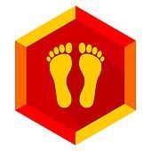 foot flat design modern icon