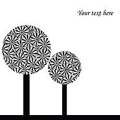 Illustration with abstract trees