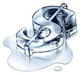 Crisis finance - the dollar symbol