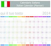 2014 Italian Planner-2 Calendar wit