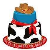 Cowboy party birthday cake