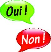 Vector yes and no speech bubbles