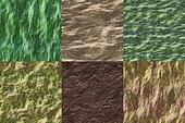 Set of wet stone seamless generated textures