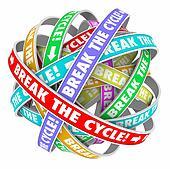 Break the Cycle Words Around Rings Endless Repeating Pattern