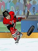 Chicago ice hockey player