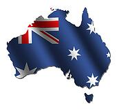 Australian map flag