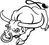Bull Clip Art - Royalty Free - GoGraph