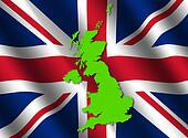 UK map on flag
