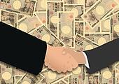 handshake on Japanese Yen