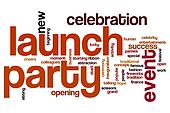 Launch party word cloud