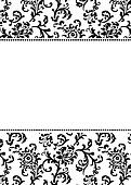 Vector Asian Pattern and White Border