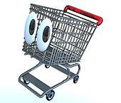 Shopping cart cartoon