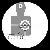 The target in the optical sight.