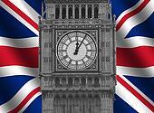Big Ben with Flag
