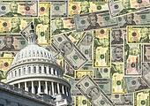 US capitol and cash