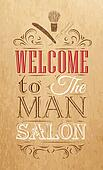 Poster Barbershop welcome kraft