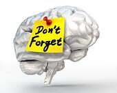 do not forget reminder note on brain