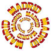Madrid flag text circles