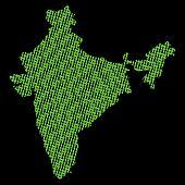 India binary map