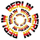Berlin flag text circles
