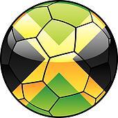Jamaica flag on soccer ball
