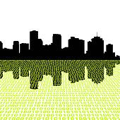 New Orleans skyline with binary