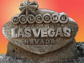 Welcome to Fabulous Las Vegas sign, made of Sand