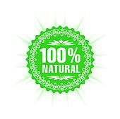 100% natural guarantee label