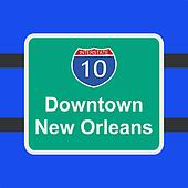 freeway to New Orleans sign