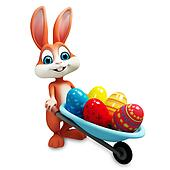 Eastey bunny with eggs trolley