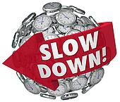 Slow Down Clocks Sphere Time Passing Too Quickly Fast Warning
