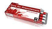 Cure For Preeclampsia, Red Open Blister Pack.