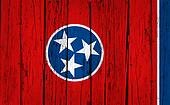 Tennessee State Flag Grunge Background