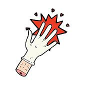 cartoon rubber glove