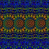Blue psychedelic background.